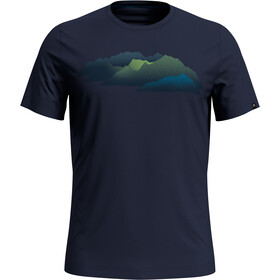 Odlo Nikko Print Kurzarm Rundhals T-Shirt Herren diving navy/mountain